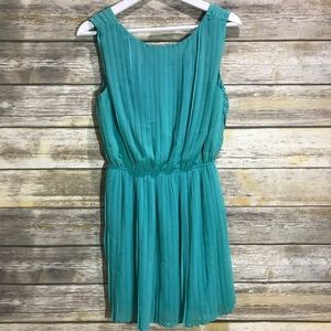 Lush Mint Green Pleated Dress